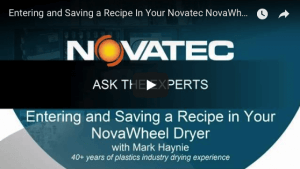 Entering and Saving a Recipe In Your Novatec NovaWheel Dryer